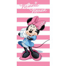 Minnie Beach towel Pink stripes