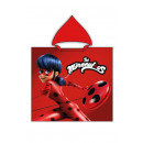 Miraculous Ladybug Hooded poncho velour Be Red