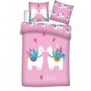 duvet cover Lama - pink