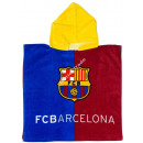 F.C. Barcelona Hooded poncho velour