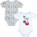 wholesale Licensed Products: Mickey Mouse 2 pack baby bodysuits Play all ...