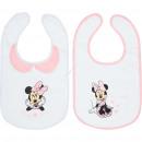 grossiste Vetements enfant et bebe:Minnie Set de 2 bavoirs