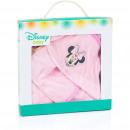 Minnie baby bathcape with washcloth