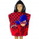 Großhandel Schals, Mützen & Handschuhe: Miraculous Ladybug Badeponcho mit kapuze velours