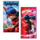 Großhandel Bad- und Frottierwaren: Miraculous Ladybug  strandtuch microfraser