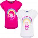 Peppa Pig t-shirt Rainbow white / pink