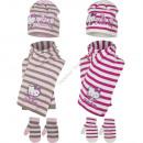 Hello Kitty baby mutze mit schal und handschuhe