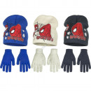 Spiderman muts met handschoen