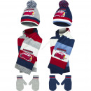 Cars baby hat scarf and gloves