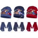 Super Mario mutze mit handschuhe