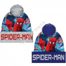 Spiderman hats with pompon grey / blue