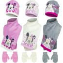 Großhandel Lizenzartikel: Minnie baby mutze mit schal und handschuhe