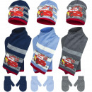 Cars baby hats scarf and gloves