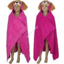 Paw Patrol fleece hoodie blanket Pink / Fuscia