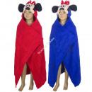Minnie fleece hoodie blanket Red / Blue