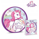 wall clock Unicorn You`re Special