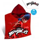 Großhandel Lizenzartikel: Miraculous Ladybug Sammet Badeponcho mit kapuze