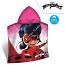 Miraculous Ladybug Cape de bain capuche velours
