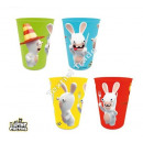 Raving Rabbids set of 4 plastic cups