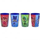 PJ Masks set di 4 bicchieri di plastica