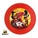 Incredibles 2 PLATOS DE PLASTICO 20cm 3D