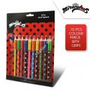 Großhandel Basteln & Malen: Miraculous Ladybug 10 Stück Farbstift mit Griff