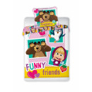 Masha and the Bear toddler duvet cover Funny Frien