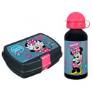 Minnie aluminium bottle with lunchbox Minnie Mouse
