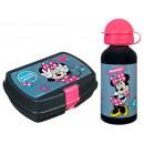 Minnie aluminium flasche mit lunch box