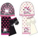 Czapka i rękawiczki w stylu Hello Kitty