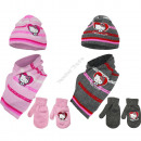 Hello Kitty baby hat scarf and gloves