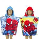 Spiderman Poncho da bagno con cappuccio in velluto