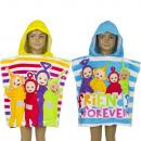 Großhandel Handtücher: Teletubbies Badeponcho mit kapuze velours