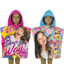 Soy Luna Hooded poncho velour