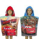 Cars Poncho de playa con capucha terciopelo .