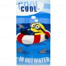 Minions velour beach towel