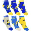Minions 3 pack sneaker socke