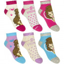 Princesas 3 pack calcetines de tobillo