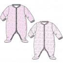 Minnie baby sleepsuits Lpink / white