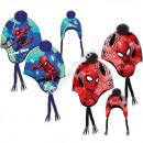 Spiderman berretto con pon pon