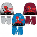 Spiderman hats and gloves L Grey / Blue / D Red