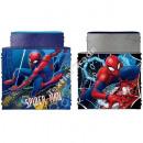 Spiderman Reversible Snood Blue / Grey