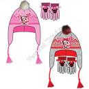 Minnie hats and gloves fleece multi