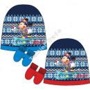 Mickey czapka dziecięca z rękawiczką