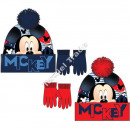 Mickey hats and gloves Red / Navy