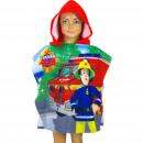 wholesale Scarves, Hats & Gloves: Fireman Sam Hooded poncho