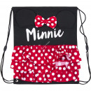 nagyker Licenc termékek: Minnie tornaterem táska 37,5 cm, 3D fülekkel és íj