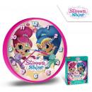 mayorista Artículos con licencia: Shimmer and Shine reloj de pared 25 cm