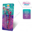 mayorista Material de oficina: Shimmer and Shine 3 lapices con goma de borrar