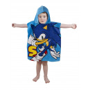Sonic Badeponcho mit kapuze velours